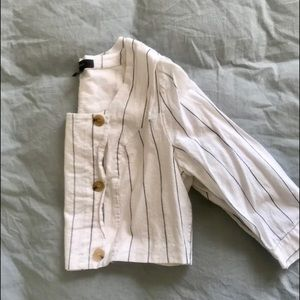 Forever 21 Plus Stripped Cropped Jacket/Blouse